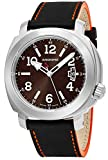 Anonimo Mens Sailor 43 MM Brown Face Date Brown Leather Strap Swiss Mechanical Watch AM200001006A01