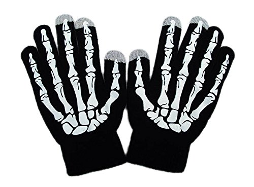 Touchscreen Gloves Winter Warm Skeleton Knit Gloves Suit for Playing IPad Mobile Phones in Winter(Freesize,Fluorescence) ()