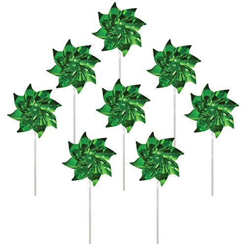 - In the Breeze 2709 Sparkling Mylar Pinwheel Decorative Spinner-8 Piece Bag, Green