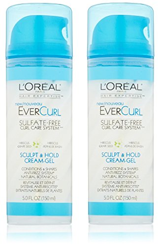 L'Oreal Paris EverCurl Sculpt and Hold Cream Gel, 5.0 Fluid Ounce (Pack of 2)