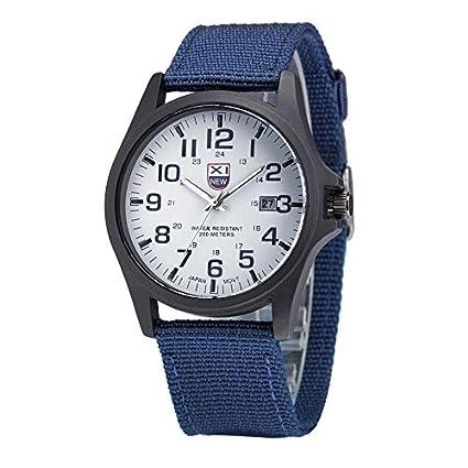 391810c80 Amazon.com   Fabulous XINEW Luxury Outdoor Sports Men s Watch Calendar Date  Mens Steel Analog Quartz Watch Military erkek kol saat relogioi    Everything ...
