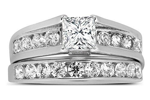 Bestselling 1 Carat Princess Diamond Engagement Ring in White Gold