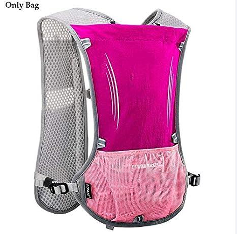 Amazon.com : XUSHSHBA 5L Outdoor Sport Running Backpack Marathon Trail Running Hydration Vest Pack for 1.5L Water Bag Cycling Hiking Bag Black : Sports & ...