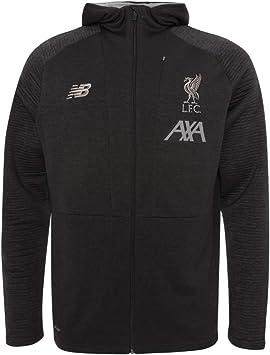 Official Liverpool FC Football Grey Marl Boys Training Travel Zip Hoodies 19//20
