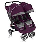 Baby Jogger City Mini Double Stroller - Spring 2011 Purple / Grey