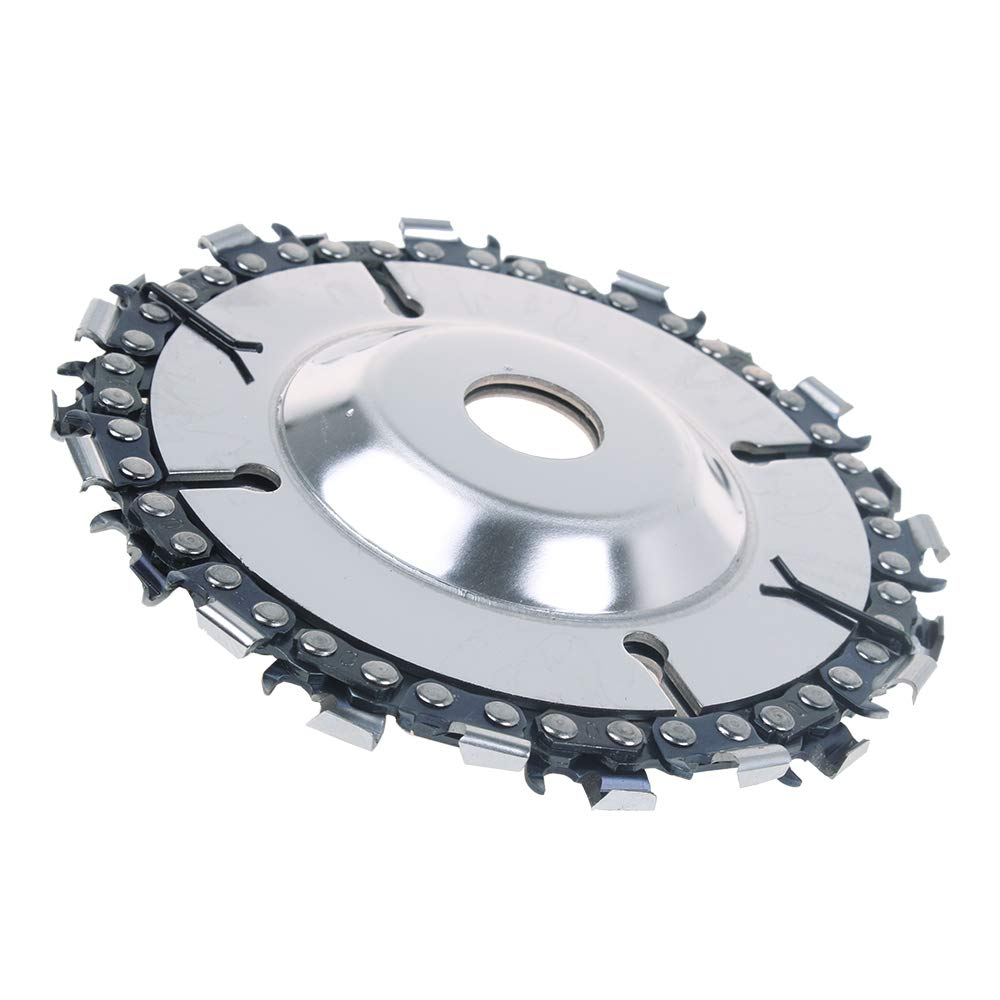 AUTOTOOLHOME Chainsaw Grinder Wheel Grinder Disc 4//5 Inch 22//18 Tooth Fine Cut Chain Set For 100 115 Angle Grinder 5//8 Inch Center Hole 5inch