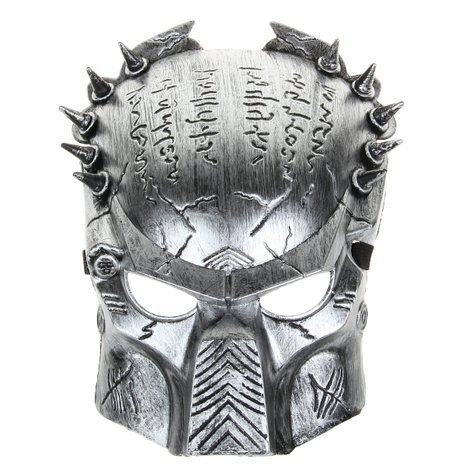 Predator Mask Halloween (San Tokra Holloween Mask Predator Warrior Face Protect Mask for Halloween Masquerade Cosplay, Golden)