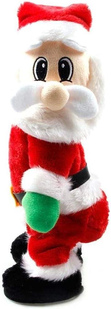 Juguetes Eléctricos Navidad Santa Claus Figura Twisted Cadera Twerking Cantando Decoración Regalo de niños
