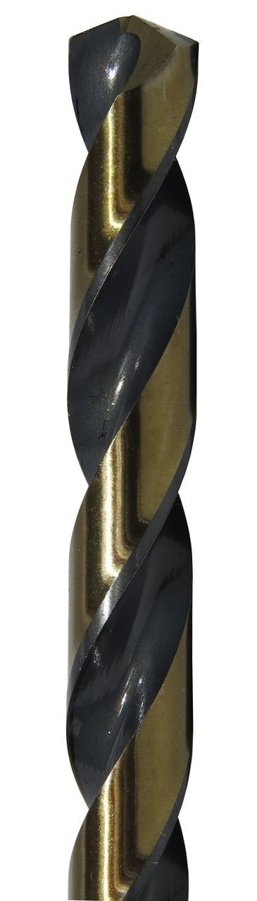 17//64 Size Pack of 12 Round with 3-Flat Shank Drill America KFDML Series Killer Force High-Speed Steel Mechanics Length Drill Bit Black//Gold Oxide Finish 135 Degrees Split Point Spiral Flute Pack of 12 17//64 Size KFDML17//64P12