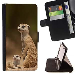 Momo Phone Case / Flip Funda de Cuero Case Cover - La familia de Meerkat - Sony Xperia M2