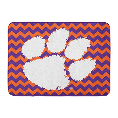 - Bath Mat Clemson Tiger Paw Football South Carolina Territory Bathroom Decor Rug