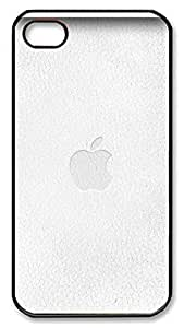 iPhone 4 4s Case, iPhone 4 4s Cases - Grey Paper Apple Logo PC Polycarbonate Hard Case Back Cover for iPhone 4 4s¨CBlack