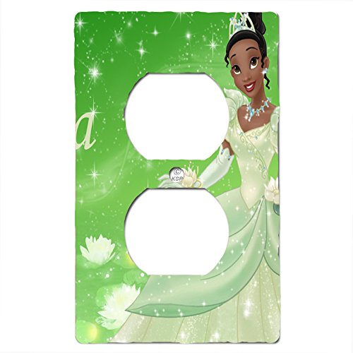 Disney Princess Fairy Tale Dress to Shine Bedding Set Matching Light Switch Wall Plate Covers And/or Outlet. (Tiana, 1x Outlet)