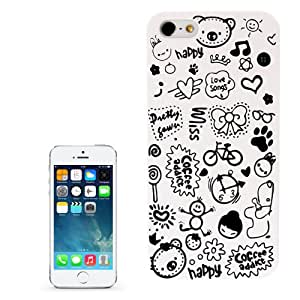 Magic Girl Pattern Frosted Plastic Case for iPhone 5 & 5S (White)