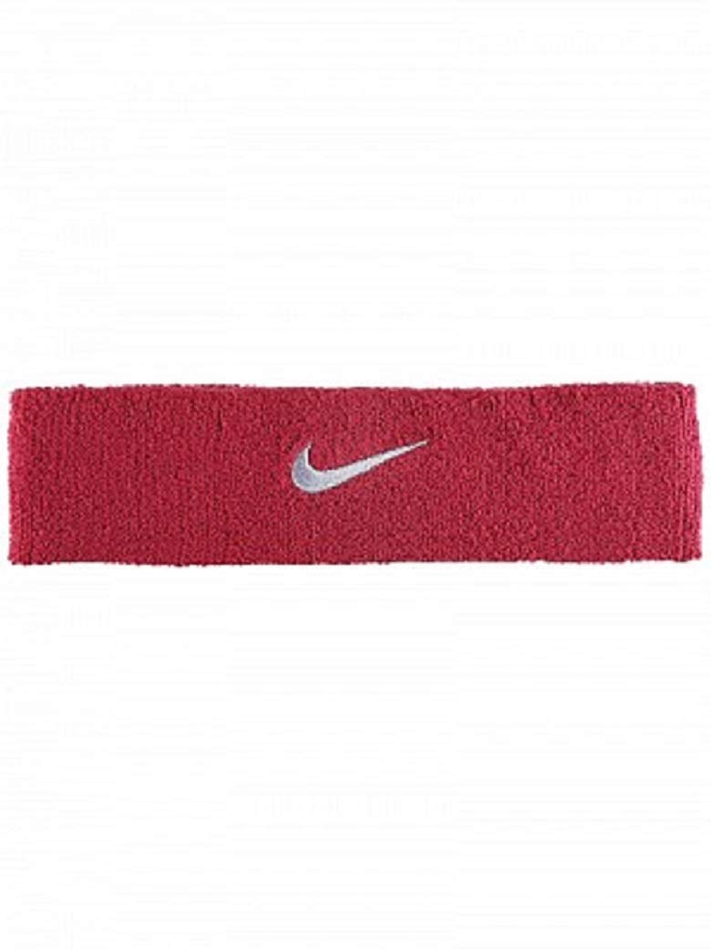 Nike Swoosh Headband (Red Crush/Wolf Grey) by Nike