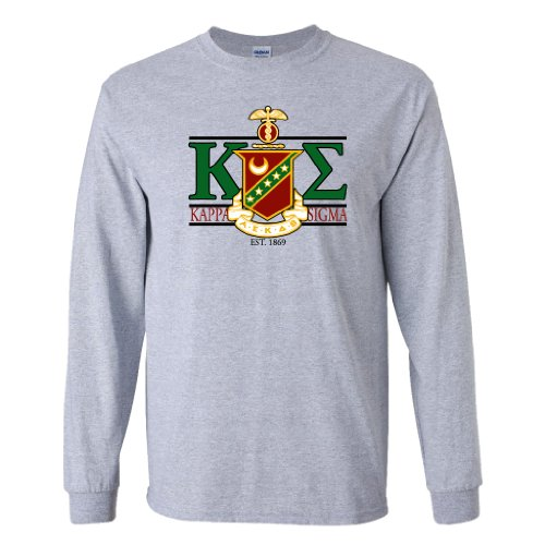 kappa-sigma-long-sleeve-t-shirt-greek-letters-with-large-crest-design-large-sport-gray