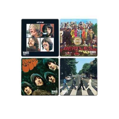 The Beatles Album Cover 4 PC. Wood Coaster Set