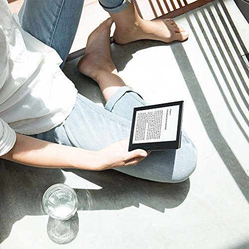 "Kindle Oasis with Leather Charging Cover - Black, 6"" High-Resolution Display (300 ppi), Wi-Fi"