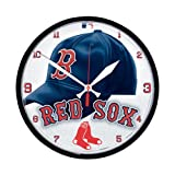 Wincraft MLB 2903211 Boston Red Sox Round Wall Clock, 12.75-Inch