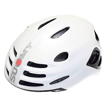 SUOMY Casco Bicicleta Bola Blanco Mate/Negro Brillante Talla L (Cascos MTB y carretera