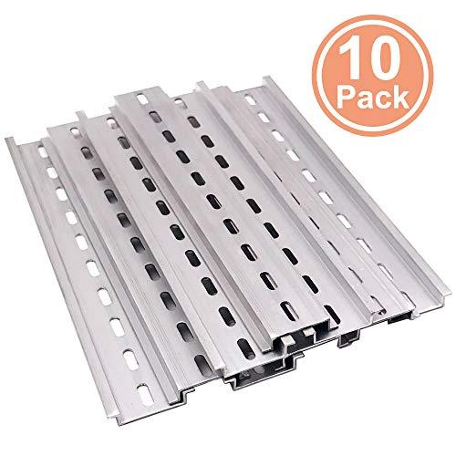(Erayco 10 Pieces DIN Rail Slotted Aluminum RoHS 8