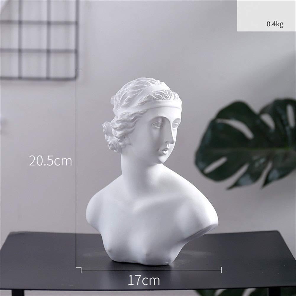 ZYBC Resin Figure Statue Hand Carved Craft Portrait Sculpture Model Human Head Ornament Desktop Crafts Gifts A