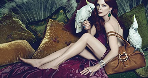 **PRINT AD** Set With Julianne Moore & Parrots For 2010 Bvlgari - Bvlgari Sale Jewellery
