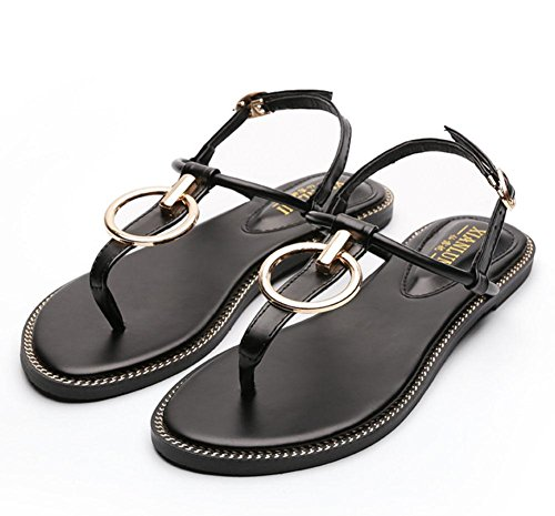 Herringbone Toe eu39 Flip Meili Us8 cn39 uk6 strap Sandalias Zapatos Roman Zapatos T qROwtnEwxB