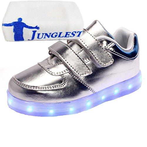 [Present:kleines Handtuch]JUNGLEST® Lackleder High-Top 7 Farbe LED Leuchtend Sport Schuhe Glow Sneakers USB Aufladen Turnschuhe für Unisex Herren Dam c5