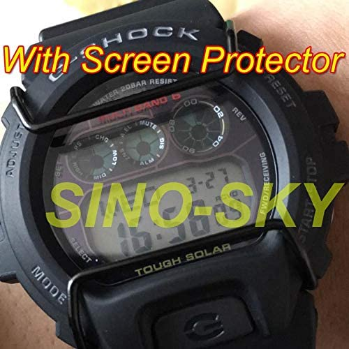 Synvy Screen Protector for Casio GAS100B-1A2 G-Shock GAS-100B-1A2 TPU Flexible HD Clear Film Protective Protectors Not Tempered Glass 3 Pack
