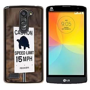 LECELL--Funda protectora / Cubierta / Piel For LG L Bello L Prime -- Tortuga velocidad lenta Conductor Límite de coches --