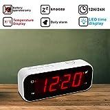 Kwanwa Small Digital LED Alarm Clock Battery