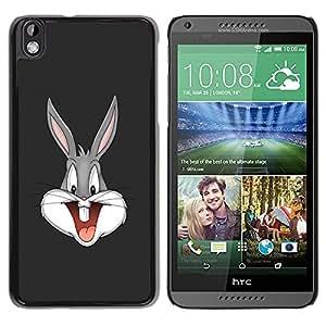 Paccase / SLIM PC / Aliminium Casa Carcasa Funda Case Cover para - Cartoon Bunny - HTC DESIRE 816