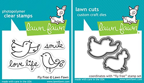 Lawn Fawn Fly Free Stamp and Die Set