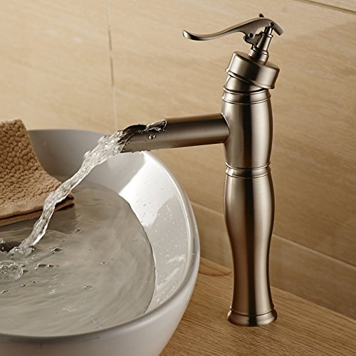 vessel sink waterfall faucet - 9