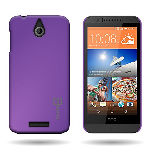 By CoverON Ultra Slim Matte Soft Touch Hard Back 1 Pc Case for HTC Desire 510 (2014) - Purple ()
