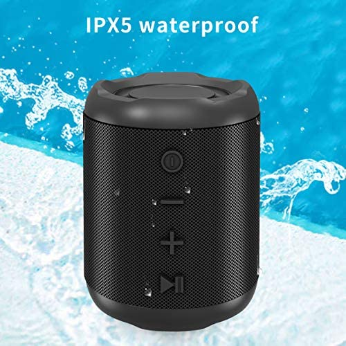 [Upgraded] Bluetooth Speakers,MusiBaby Bluetooth Speaker 5.0,Outdoor,Waterproof,Wireless Speaker,Dual Pairing,Loud Stereo Sound,Booming Bass,25h Playtime for Camping,Beach,Pool,Shower(Black) 51ynFzhX5ML