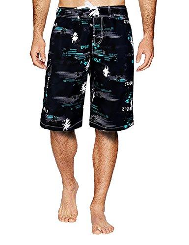 APTRO Board Shorts Mens Swimwear Swim trunks #1526 Blue XXL