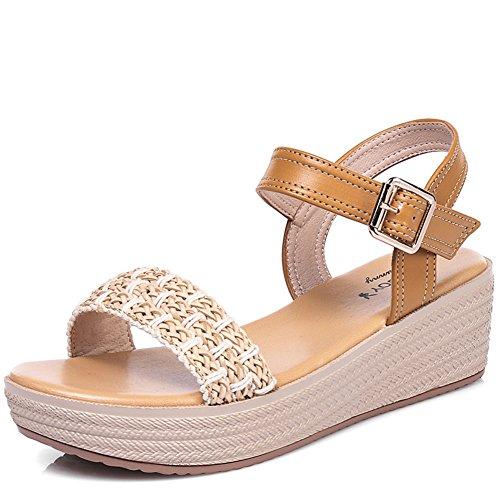 Verano Zapatos De Suela Gruesa Plataforma/Comodidad Y Ocio Sandalias De Fondo Plano B