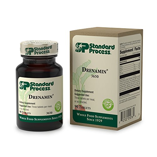 Standard Process - Drenamin - Supports Immune System Function, Energy Production, and Balanced Mood, Source of Antioxidant Vitamin C, Riboflavin, Niacin, and Vitamin B6, Gluten Free - 90 Tablets