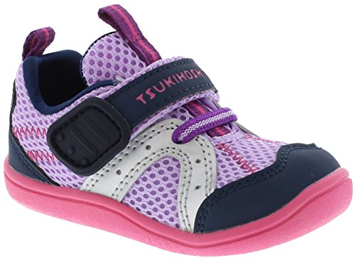 Tsukihoshi Kids Baby Girl's B. Marina (Toddler) Lavender/Navy (Lavender Leather Footwear)