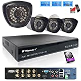 Cheap iSmart 8 Channel 720P HDMI AHD DVR HVR NVR with 1TB HDD 3 in 1 Security System including 4 1200TVL 1.0MP Waterproof Bullet Surveillance Camera with 27 IR Leds Night Vision Up to 80ft Remote View