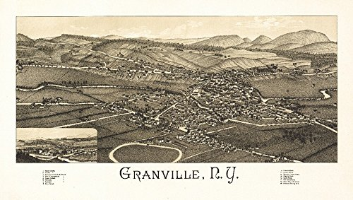 Granville, New York - Panoramic Map (12x18 Signed Print Master Art Print w/Certificate of Authenticity - Wall Decor Travel ()