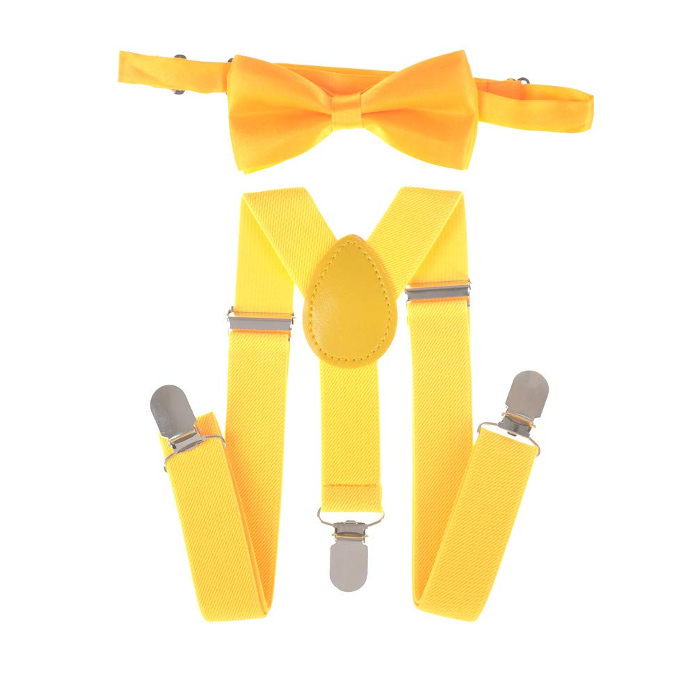 SUSPENDER and BOW TIE Tuxedo Wedding Matching SET Suit Party for Baby Boy Kids