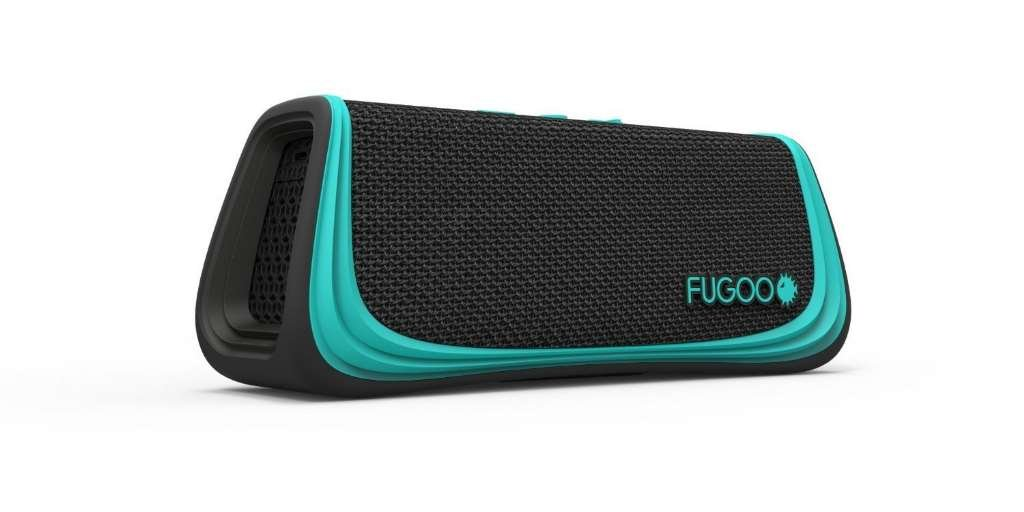 Fugoo Sport Bluetooth Speaker + Mount Pack - Black / Teal Colors - Portable Surround Sound Speakerphones with Custom Mounts for Outdoor Use