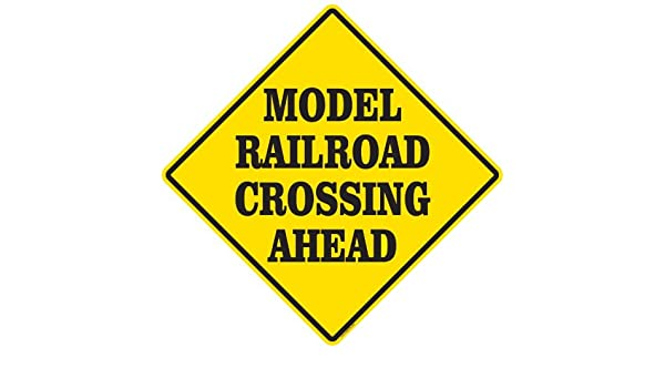 Amazon com: Model Railroader Crossing Ahead Sign Railroad