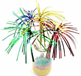 100 Pack 9'' Foil Frills Party Picks Cupcake Topper Sandwich & Cocktail Picks Frill Appetizer Toothpick Fireworks Food Picks