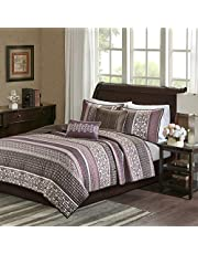 Madison Park Reversible Quilt Luxury Jacquard Design All Season, Breathable Coverlet Bedspread Bedding Set, Matching Shams, Decorative Pillow