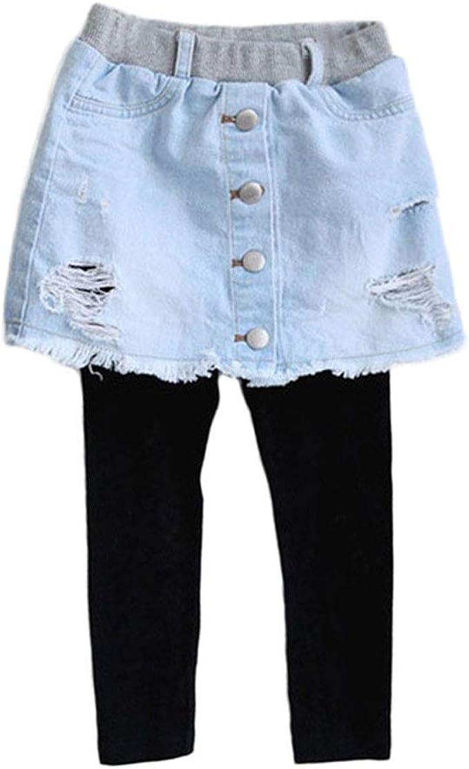 PanpanBox Leggings Niña Denim Falda Diseño Pantalones ...