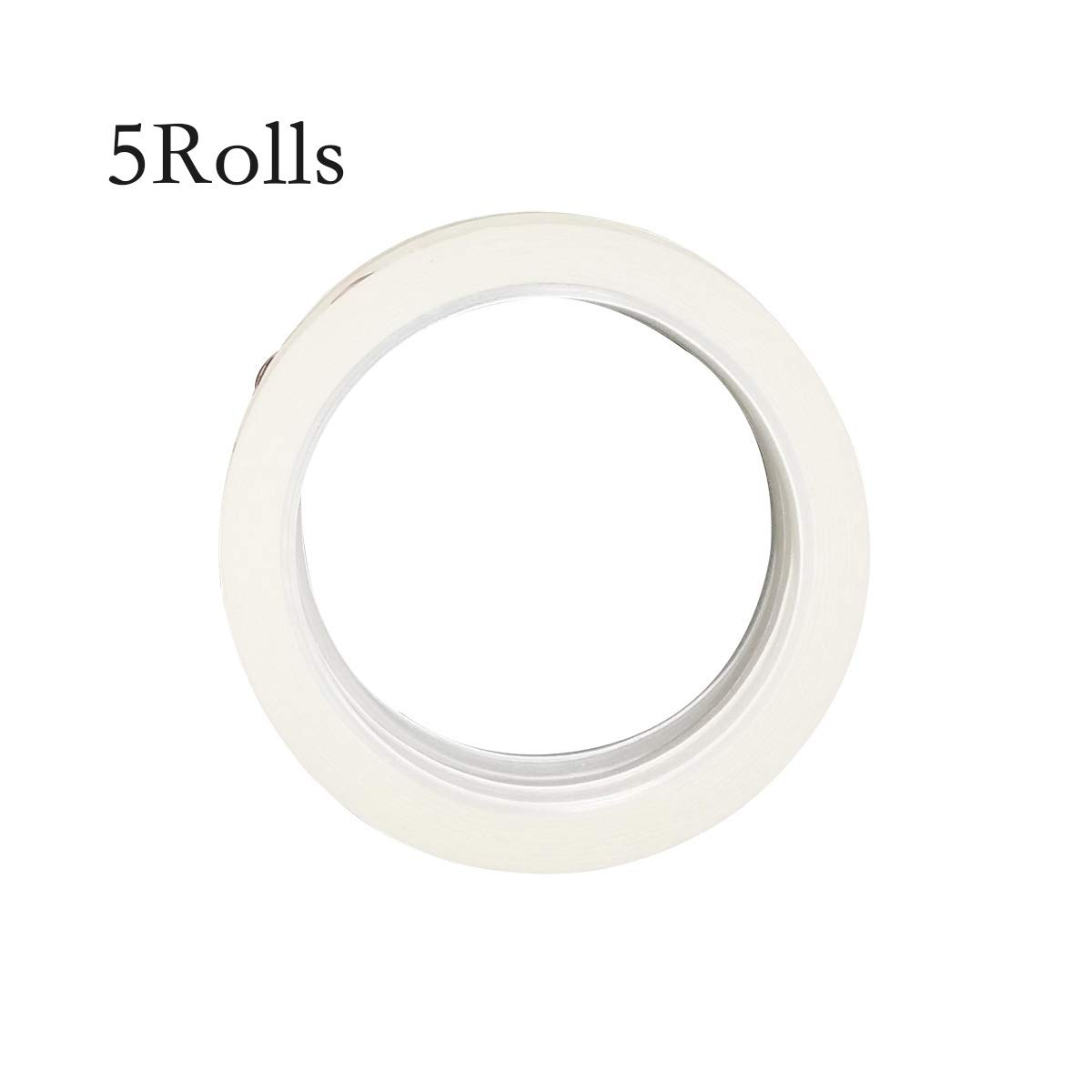 LGEGE 5 rolls white Graphic Chart Tape / Artist Tape (Width: 3mm)